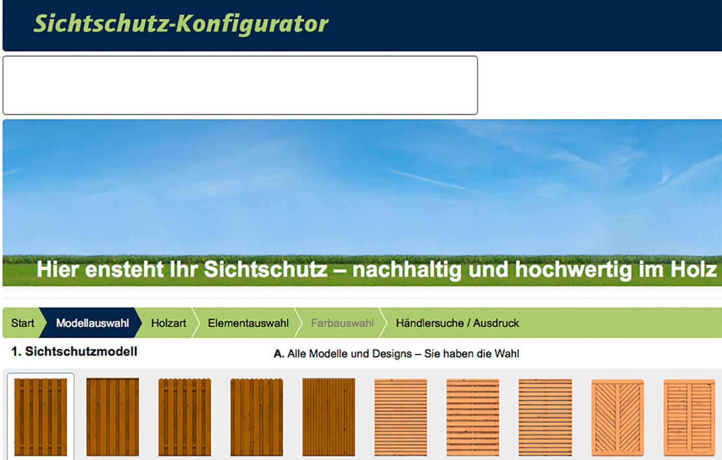 Sichtschutz Holz Konfigurator ~   Treuen, Adorf & Auerbach Sichtschutz  Zäune holzkellner adorf gmbh